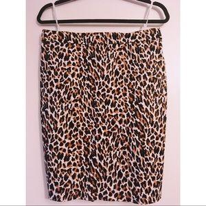 J. Crew Leopard Print Pencil Skirt